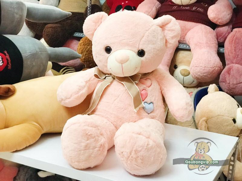 Gấu Teddy nơ 3 tim